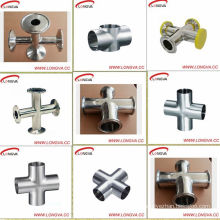 Sanitary Stainless Steel Cross with Tri Clamp Ends
